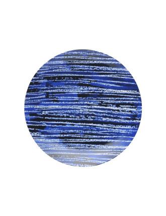 Shibori Blue Line Side Plate 23cm