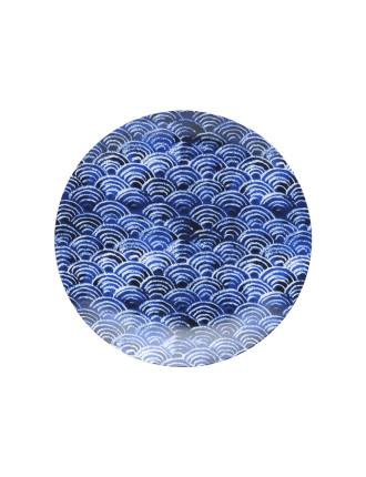 Shibori Blue Fan Side Plate 23cm
