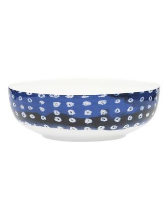 Shibori Blue Dot Bowl 16.5cm