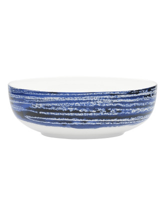 Shibori Blue Line  Bowl 16.5cm