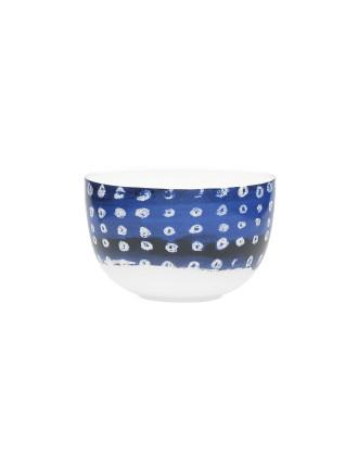 Shibori Blue Dot Noodle Bowl