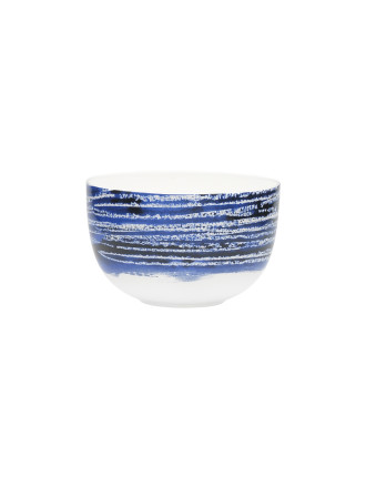 Shibori Blue Line Noodle Bowl