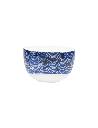 Shibori Blue Fan Noodle Bowl