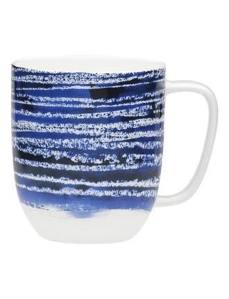 Shibori Blue Line Mug