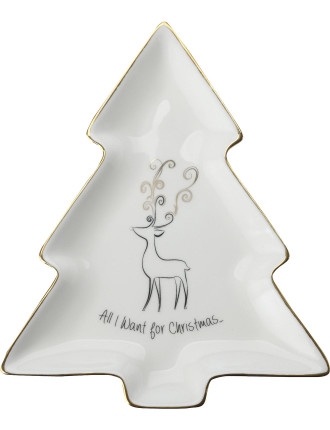 Mw All I Want For Christmas Tree Dish 17cm Gb
