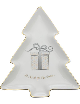 Mw All I Want For Christmas Tree Dish 22cm Gb