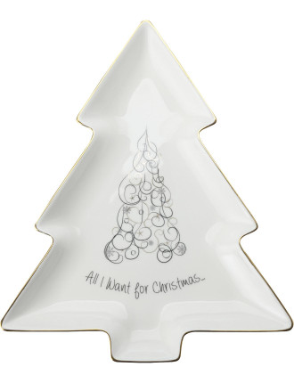 Mw All I Want For Christmas Tree Dish 29cm Gb