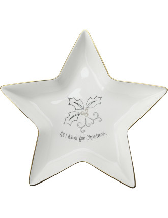 Mw All I Want For Christmas Star Dish 27cm Gb