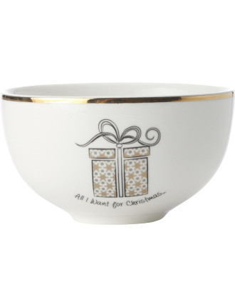 Mw All I Want For Christmas Coupe Bowl 10cm Gb