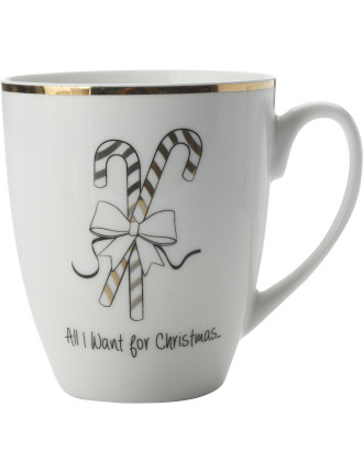 Mw All I Want For Christmas Coupe Mug 360ml Gb