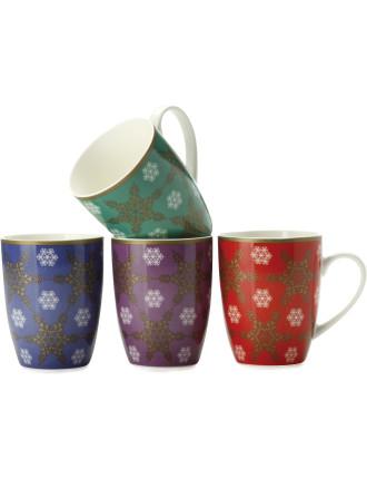 Mw Winter Christmas Mug 400ml Set Of 4 Cake Tin