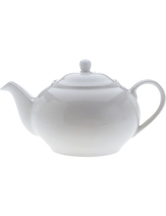 White Basics Teapot 6 Cup Gift Boxed