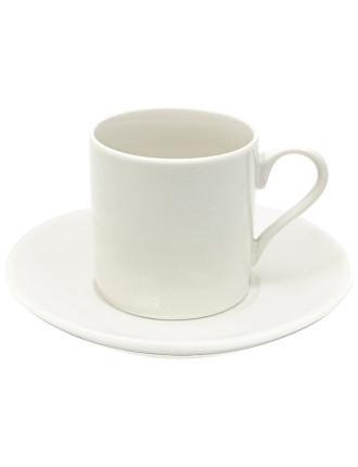 White Basics Demi Cup & Saucer