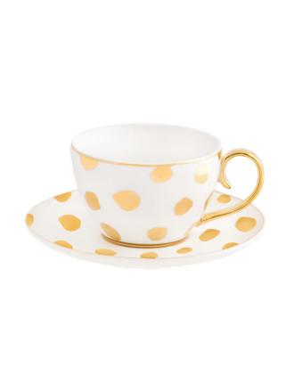 Teacup & Saucer Polka D'or