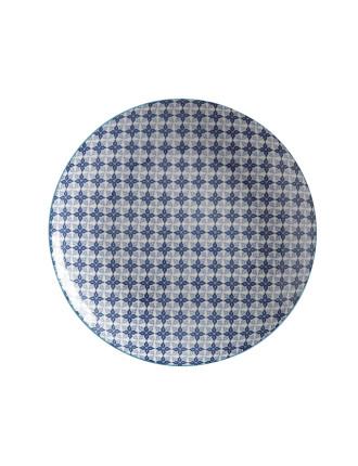 Mazara Plate Blue Mosaic 27cm