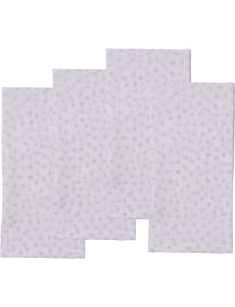 Sea Drift Napkin Set 4 Pink