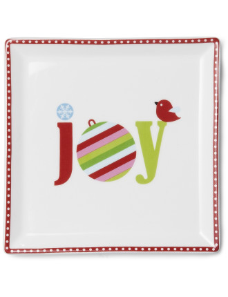 Deck the Halls Plate Joy