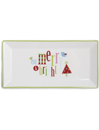 Deck the Halls Sandwich Tray Merry & Bright
