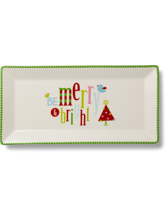 Deck the Halls Sandwich Tray