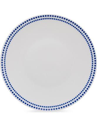 Indigo Dots Dinner Plate