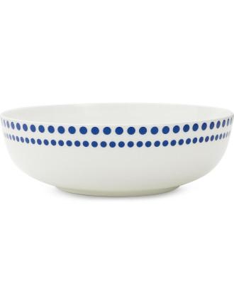 Indigo Dots Rim Bowl
