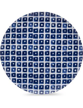 Indigo Squares Side Plate