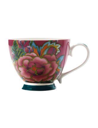 Hanoi Mug Flower Rose 400ml Purple Gift Boxed