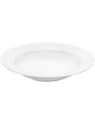 White Basics Rim Soup Plate