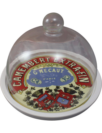 Classic Camembert Cheese Platter & Dome In  Gift Box