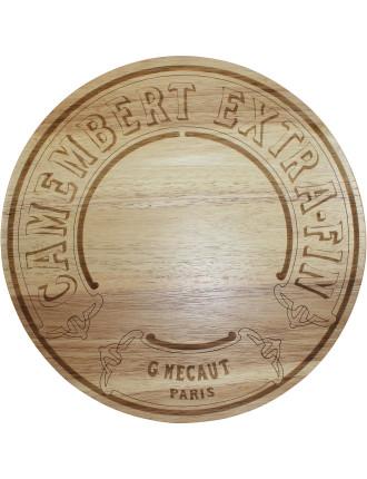 Camembert  Rubberwood  Board