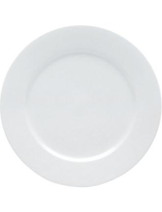 White Basics Rim Dinner Plate