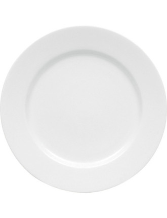 White Basics Rim Entree Plate