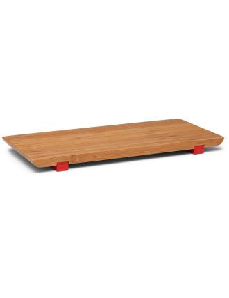 S&P Asiana Bamboo Sushi Board W/Red Feet