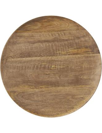 Mango Wood Plate 30cm