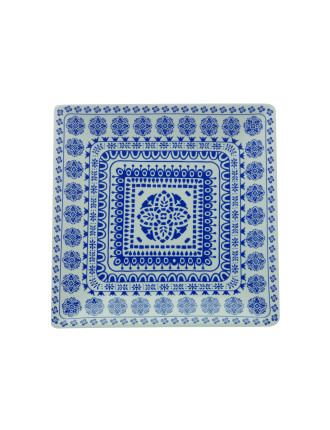 Blue Antico Square Platter 34cm Gift Boxed