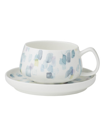 Paint Stroke Cup & Saucer