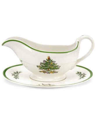 Christmas Tree Sauce Boat And Stand 11oz/.33l