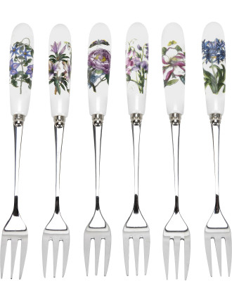 Botanic Garden Pastry Forks Set of Six