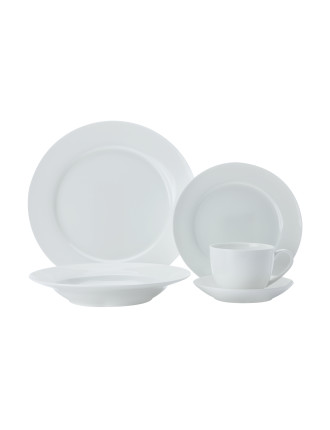 Cashmere Bone China 20-Piece Dinner Set