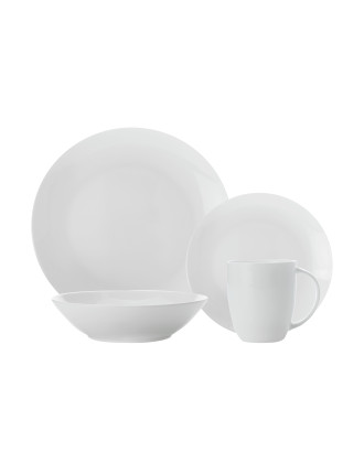 Cashmere Bone China Coupe 16-Piece Dinner set