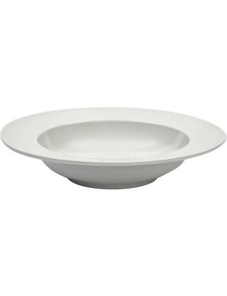 Linen Rim Soup Bowl 23cm