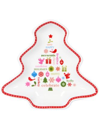 Christmas Message Christmas Tree Plate 15cm