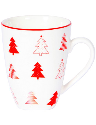 Christmas Forest Mug White