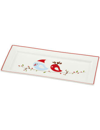 Christmas Tweets Rectangular Sandwich Platter