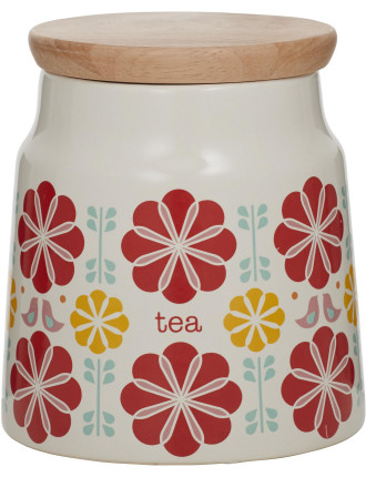 Peggy Tea Canister Red