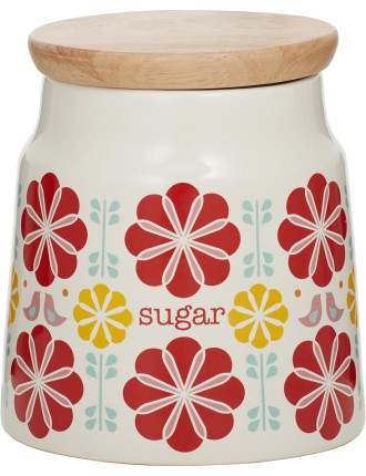 Peggy Sugar Canister Red