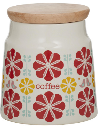 Peggy Coffee Canister Red