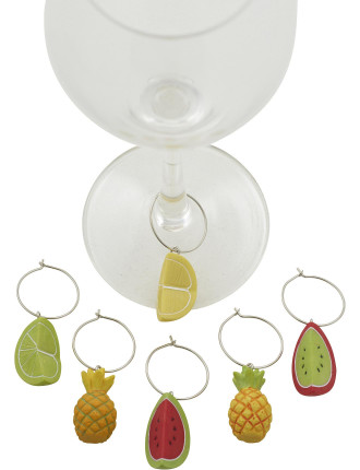 Tutti Frutti Wine Charms Set of 6
