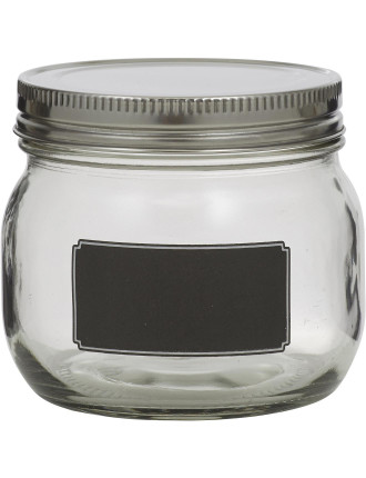 Blackboard Canister with  Stainless Steel Lid 9.5cm