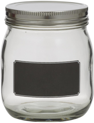 Blackboard Canister with  Stainless Steel Lid 12.5cm